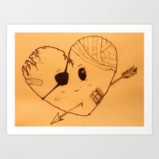 Braveheart (warm)  Art Print
