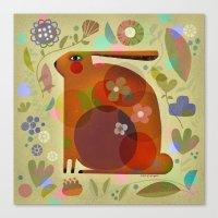 ORANGE BUNNY Canvas Print