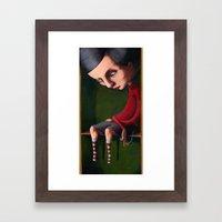 Girl In The Box Framed Art Print
