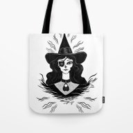 Tote Bag featuring Spirit Dimension Witch by Anna Lisa Illustrati…