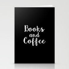 Books and Coffee - Inverted Stationery Cards