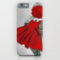 iPhone Cases featuring RED CARNATION by Julia Lillard Art