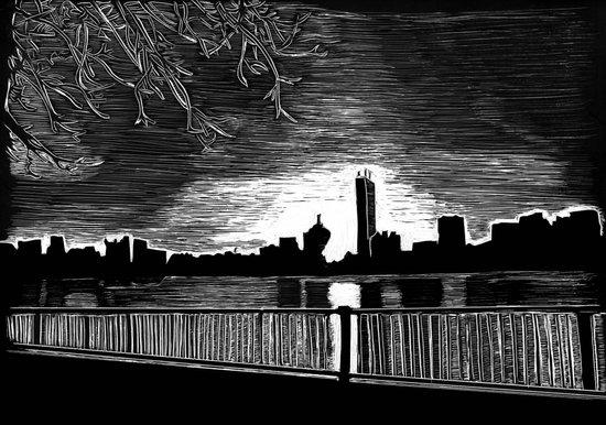 Boston, Back Bay at Sunrise Canvas Print