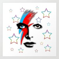 Bowie's Eyes Art Print