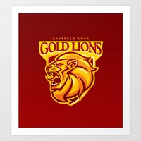 Casterly Rock Gold Lions Art Print