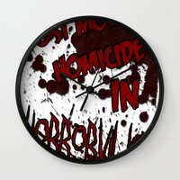 HorrorVille 13 B-movie flyer. Wall Clock