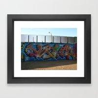 tornado vela Framed Art Print