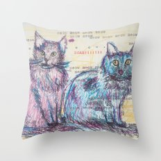 Here kitty, kitty Throw Pillow