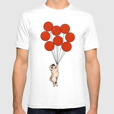 I Believe I Can Fly SMALL Mens Fitted Tee White