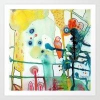 le murmure Art Print