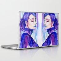 audrey hepburn Laptop & iPad Skins featuring Audrey Hepburn by VivianLohArts