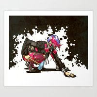 Dystopian Dumpster Princess Art Print
