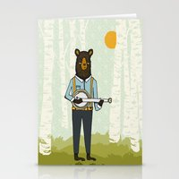 Bear's Bourree - Bear Playing Banjo Stationery Cards
