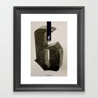 Blackletter Framed Art Print