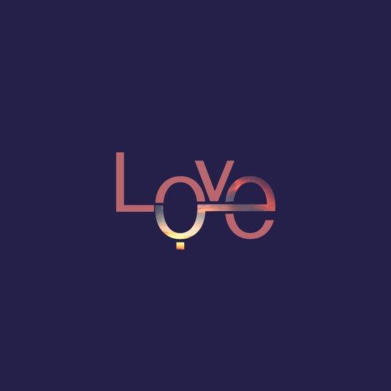 Love in English and Arabic Art Print