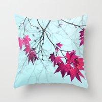 Maple Tree Stars Throw Pillow