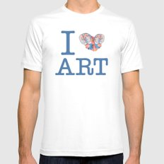 I Heart Art SMALL White Mens Fitted Tee