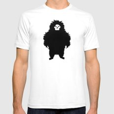 Sasquatch SMALL White Mens Fitted Tee