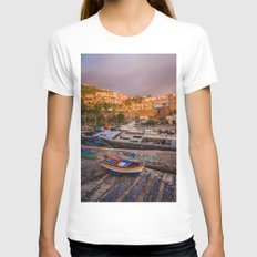 Madeira sunset Womens Fitted Tee White SMALL