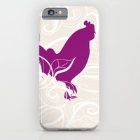 iPhone & iPod Case featuring Farm Poster #2 - Rooster & Worm by Melanie Schumacher