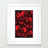 Elephant Herd Framed Art Print