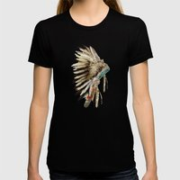 Headdress Womens Fitted Tee Black SMALL