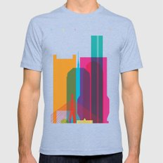 Shapes of Boston. Accurate to scale Mens Fitted Tee Tri-Blue SMALL