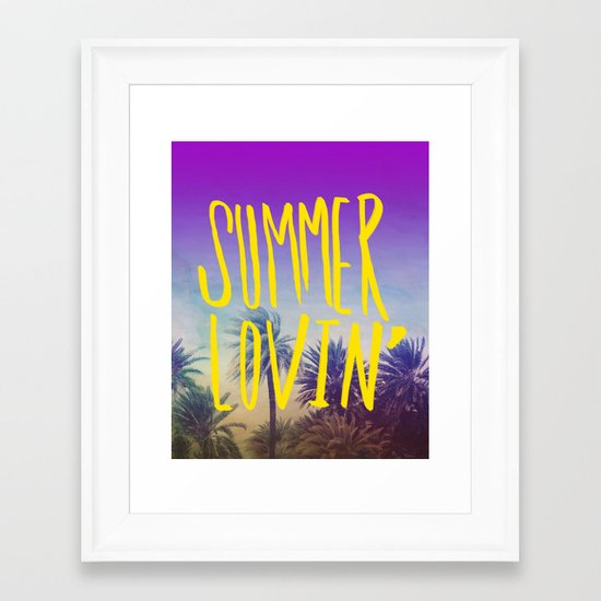 Summer Lovin' Framed Art Print