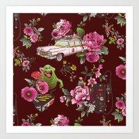 Ecto Floral Art Print