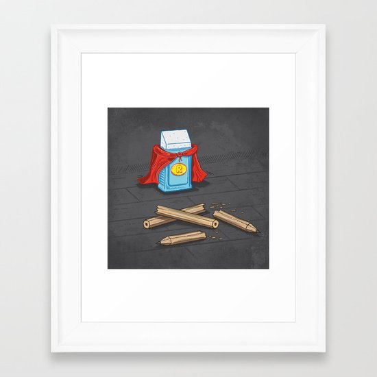 Super Rubber Framed Art Print