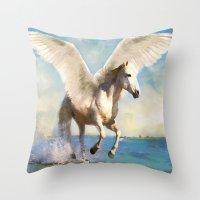Pegasus Taking Flight Throw Pillow