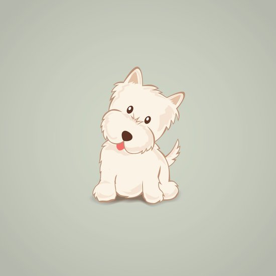Westie Dog Illustration Art Print