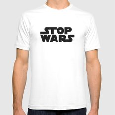 Stop Wars Mens Fitted Tee White SMALL
