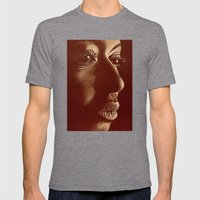 mama africa- brown Mens Fitted Tee Tri-Grey SMALL