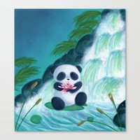 Panda Lilly Canvas Print