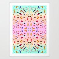 Triangle Tropical Confet… Art Print