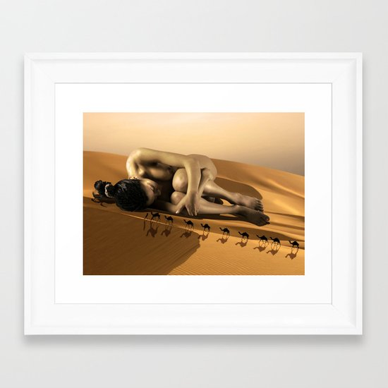 Pretend You Don't See Me Framed Art Print