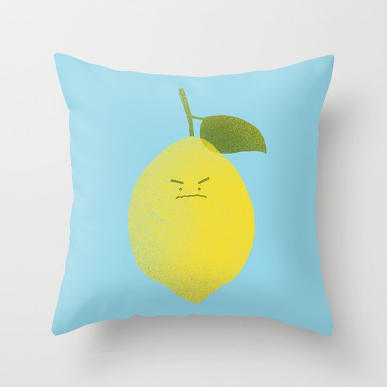 Bitter Lemon Throw Pillow