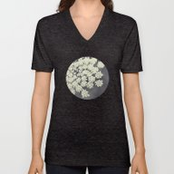 Unisex V-Neck featuring Black And White Queen An… by Erin Johnson