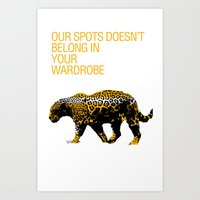 Leopard Spots Art Print