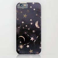 glitter iPhone & iPod Cases featuring Constellations  by Nikkistrange