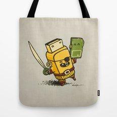 Cyber Pirate Tote Bag