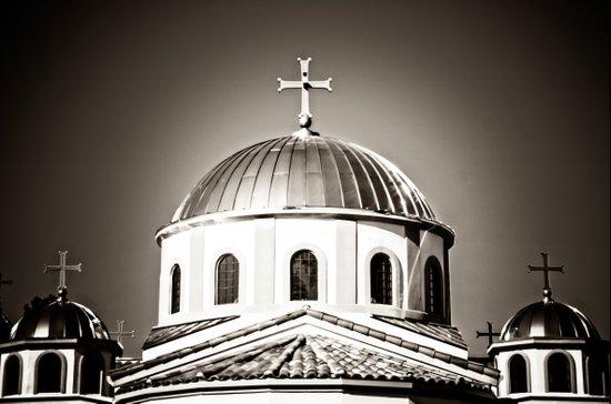 The Domes of St. Andrew Orthodox Church, Riverside, CA Art Print