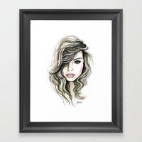 Beachy Waves Framed Art Print