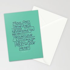 2/52: Proverbs 3:3 print Stationery Cards