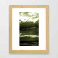 Layered Storm Framed Art Print