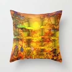 ABSTRACT - Abundance Throw Pillow