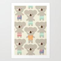 Koala-lala Art Print