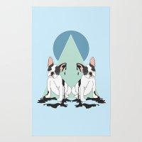 Pugs (Blue) Rug