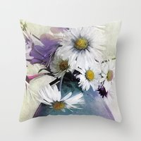 Daisies And Buttercups -… Throw Pillow